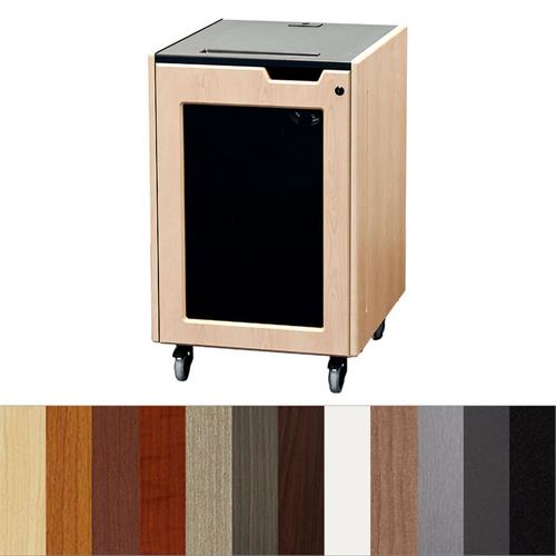 View a large image of the Audio Visual Furniture - Executive Series 16RU Mobile Rack Various Finishes REX-16 here.