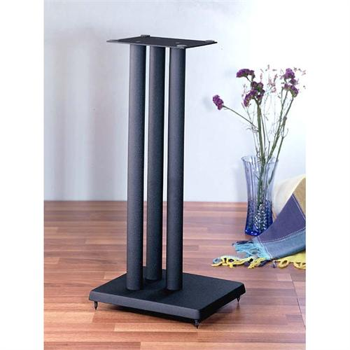 View a large image of the VTI RF Series 24 inch Cast Iron Speaker Stands Black RF24 here.