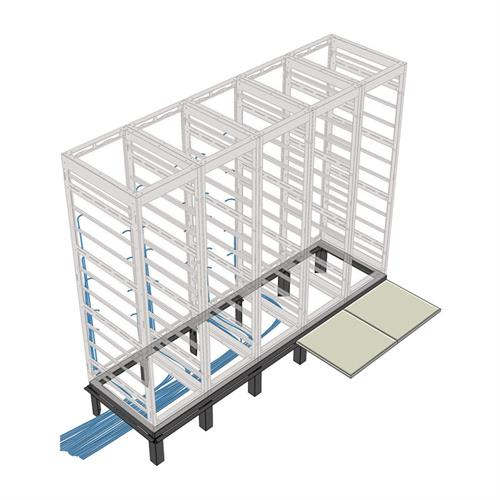 View a larger image of the Middle Atlantic Riser Base (MRK Racks, 5 Bay, 36 D) RIB-5-MRK-36.