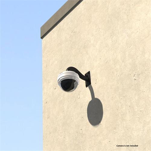 View a large image of the Crimson Heavy Duty Wall Security Camera Mount Black RW12 here.