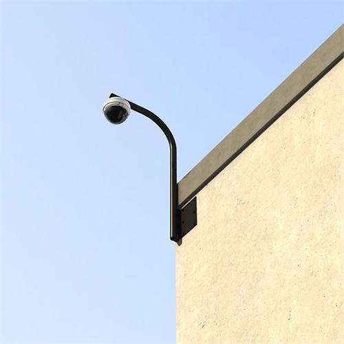View a large image of the Crimson Heavy Duty Parapet or Wall Security Camera Mount Black RW24 here.