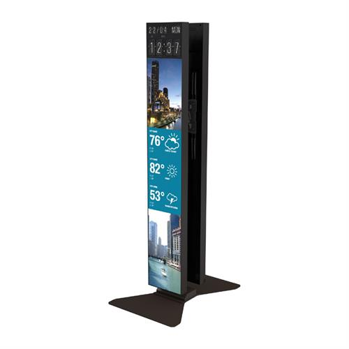 View a large image of the Crimson S86LGD Dual Portrait Stand for LG 86 inch Stretch Displays here.