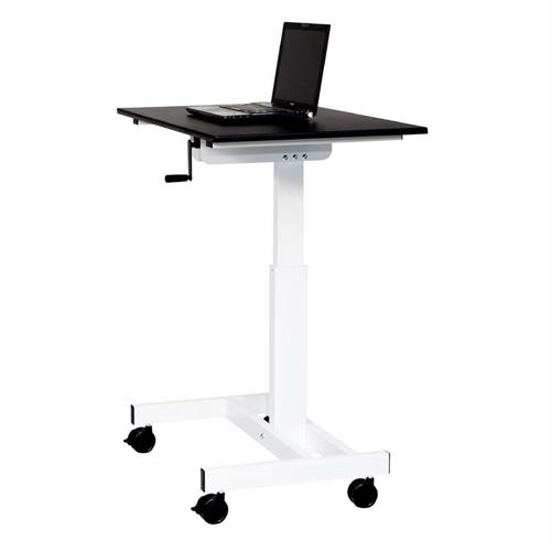 View a large image of the Luxor Adjustable Height Stand Up Desk Black and White STANDUP-SC40-WB here.