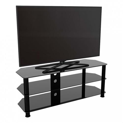 View a large image of the AVF SDC Series Black Glass 60 inch Corner TV Stand Black SDC1250CMBB-A here.
