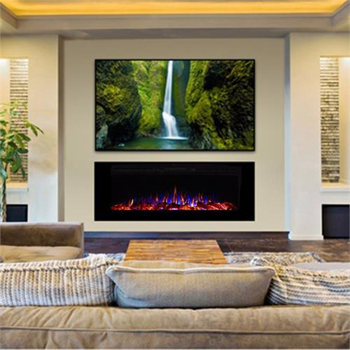 View a large image of the Touchstone Sideline 60 inch Wall Mounted Recessed Electric Fireplace Black 80011 here.