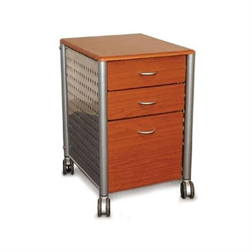 View a large image of the Innovex Filing Cabinet Cherry Silver SKM02W99 here.