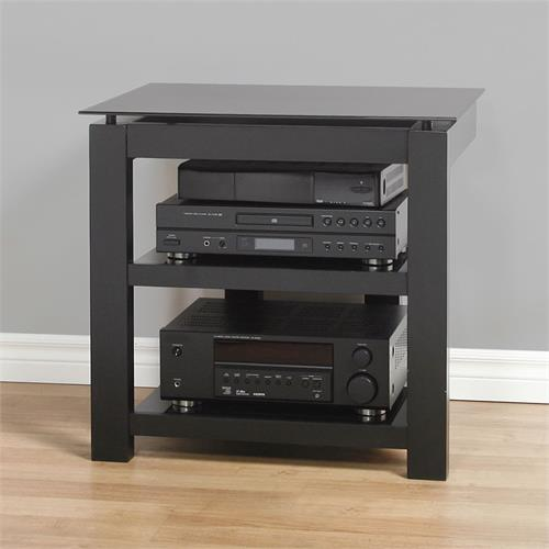 View a larger image of the Plateau SL Series 3-Shelf Audio Rack (Black Glass) SL-3V 26 (B)-BG.