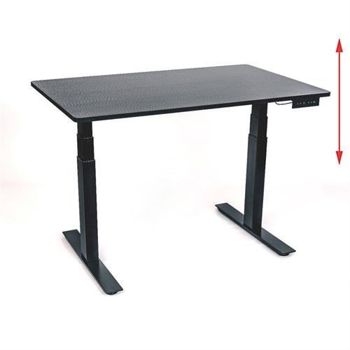 View a large image of the Luxor STANDE-48-BK-BO 48 inch Electric Standing Desk Black & Black Oak here.