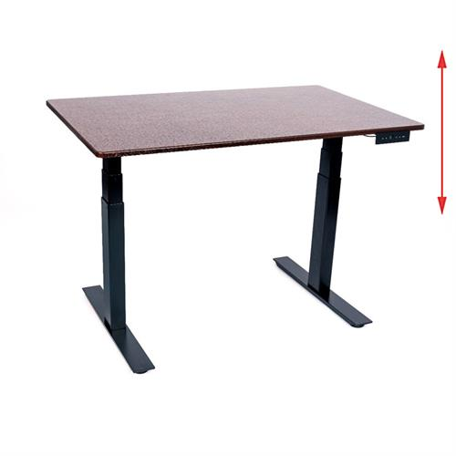 View a large image of the Luxor STANDE-48-BK-DW 48 inch Electric Standing Desk Black & Dark Walnut here.