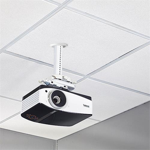 View a large image of the Chief SYS474UW Suspended Ceiling Projector System with Plenum Rated Storage here.