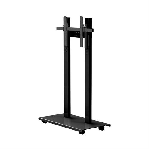View a large image of the Audio Visual Furniture - Mobile Display Stand for 40-65 inch Screens SYZ80-S-B here.