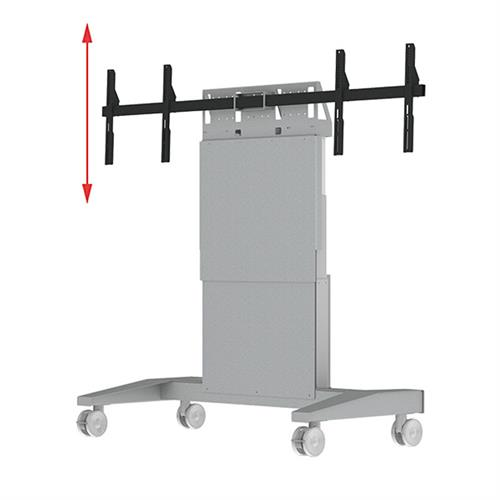 View a large image of the Audio Visual Furniture - Mobile Display Lift for Two 70 inch Screens SYZ90-D here.