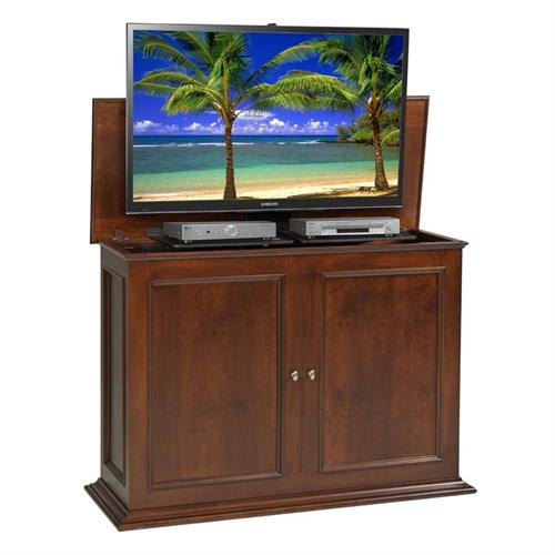 View a large image of the TV Lift Cabinet Sanctuary Series Lift for 36 to 50 inch Screens Coffee AT006569BRW here.