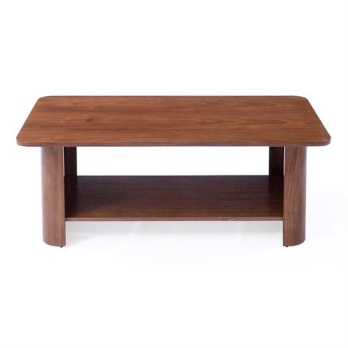 View a large image of the TransDeco Curved Wood Coffee Table Walnut TD128CDW here.