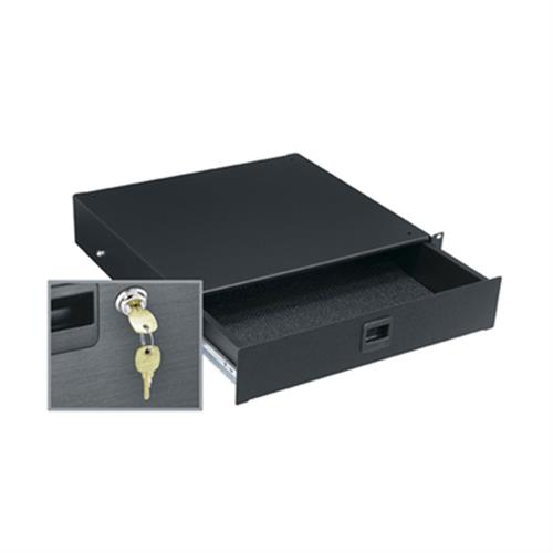 View a larger image of the Middle Atlantic Rack Drawer (2 RU, Textured, Lock) TD2LK.