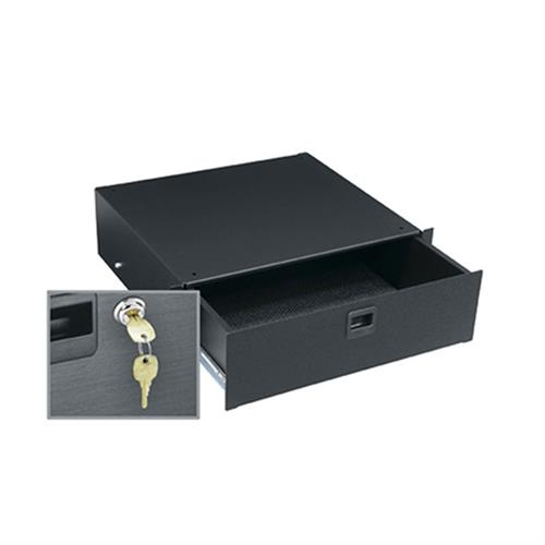 View a larger image of the Middle Atlantic Rack Drawer (3 RU, Textured, Lock) TD3LK.