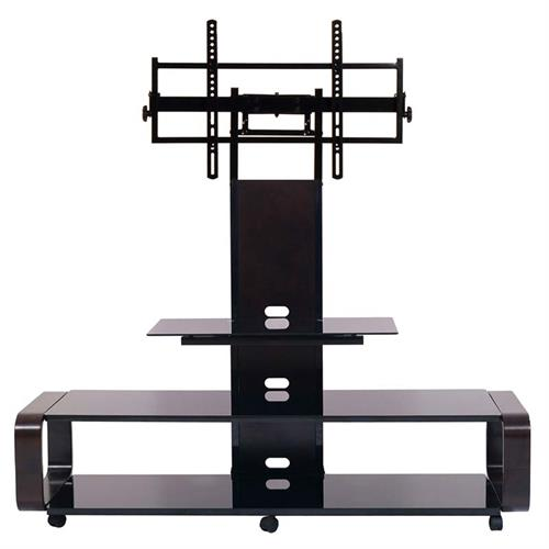 View a larger image of TransDeco Curved TV Stand with Universal Mounting System (Espresso) TD685ES.