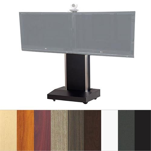 View a large image of the Audio Visual Furniture TP1000-D Dual Display Mobile Telepresence Stand here.