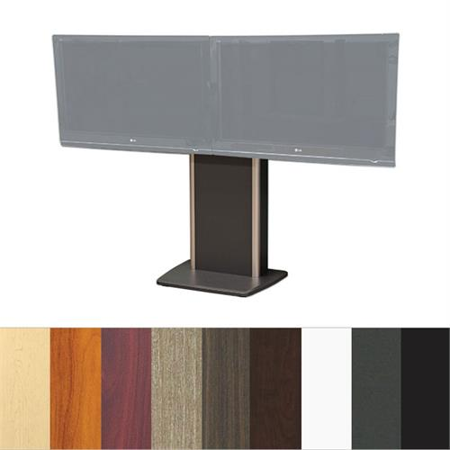 View a large image of the Audio Visual Furniture TP800-D Dual Display Fixed Base Telepresence Stand here.