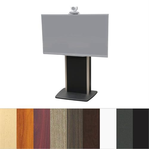 View a large image of the Audio Visual Furniture TP800-S Large Fixed Base Telepresence Stand here.