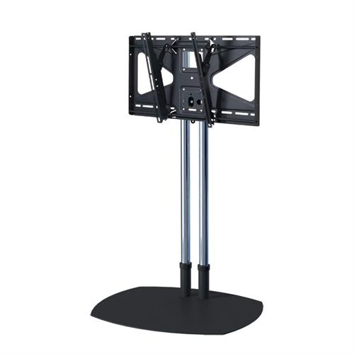 View a large image of the Premier Mounts 60 inch Chrome Floor Stand with Tilt Mount for Large Screens TS60-MS2 here.