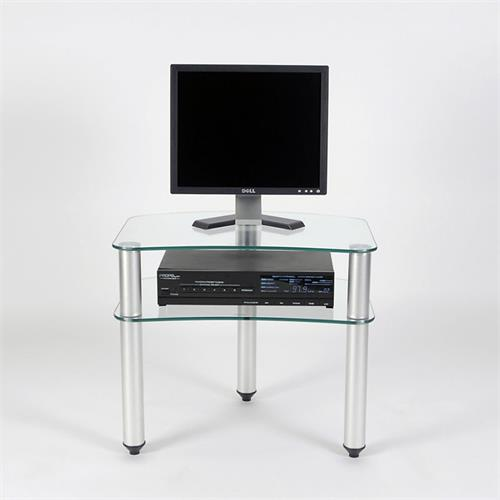 View a larger image of the RTA Glass Corner TV Stand for 10-24 inch Screens TV-001.