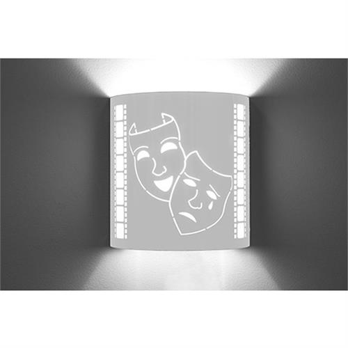 View a large image of the Image Improved Wall Sconce (Comedy Tragedy, Stainless Steel) TheatricalSconces004 here.