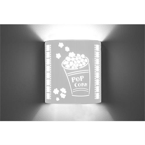 View a large image of the Image Improved Wall Sconce (Popcorn, Stainless Steel) TheatricalSconces006 here.