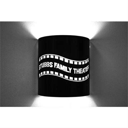 View a large image of the Image Improved Wall Sconce (Custom Filmstrip, Black) TheatricalSconces013 here.