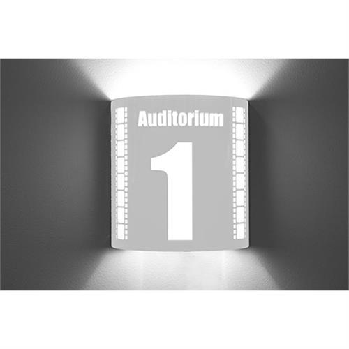 View a large image of the Image Improved Wall Sconce (Auditorium 1, Stainless Steel) TheatricalSconces016 here.