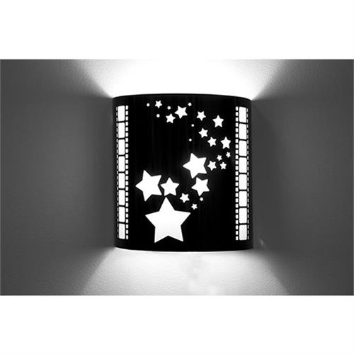View a large image of the Image Improved Wall Sconce (Star, Black) TheatricalSconces019 here.