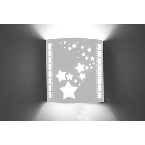 View a large image of the Image Improved Wall Sconce (Star, Stainless Steel) TheatricalSconces020 here.
