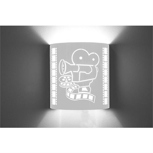 View a large image of the Image Improved Wall Sconce (Film Projector, Stainless Steel) TheatricalSconces022 here.