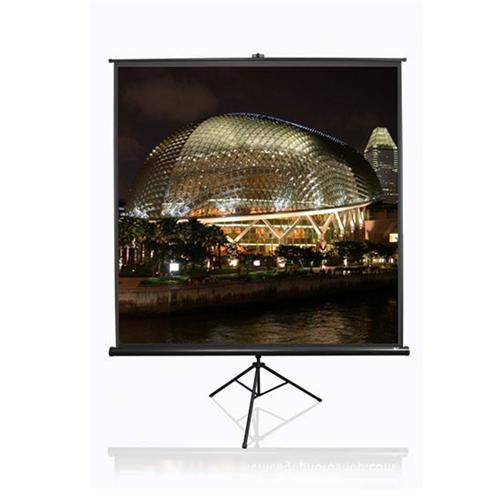 View a large image of the Elite Screens Tripod Series 1:1 Portable Pull-Up Projector Screens Various Sizes TRIPOD-T here.