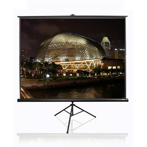 View a large image of the Elite Screens Tripod Series 4:3 Portable Pull-Up Projector Screens Various Sizes NTSC-T here.