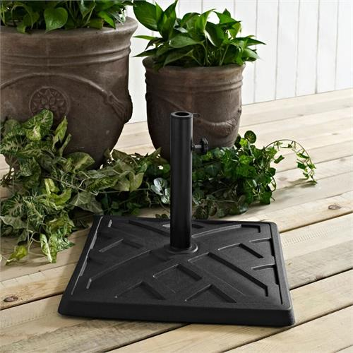 View a large image of the Walker Edison UB30SPRBL Square Black Umbrella Base here.