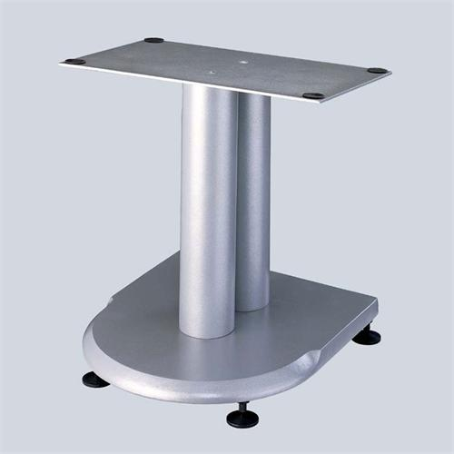 View a large image of the VTI UF Series 13 inch Cast Iron Center Channel Speaker Stand Silver UFCS here.