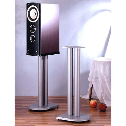 View a large image of the VTI UF Series 24 inch Cast Iron Speaker Stands Silver UF24S here.