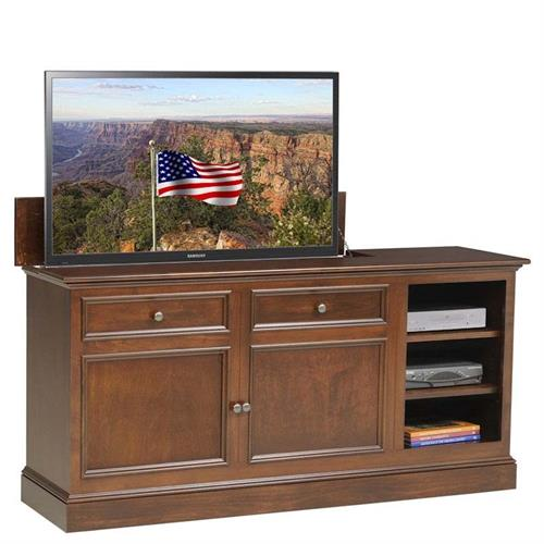 View a large image of the TV Lift Cabinet Under the Window TV Lift for 32 to 47 inch Screens Coffee AT006499 here.