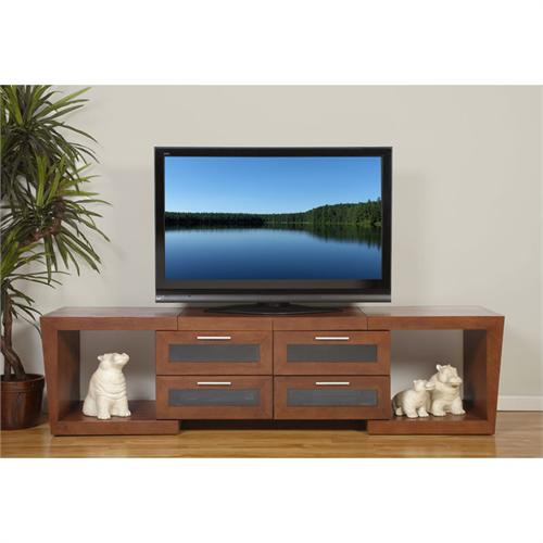 View a large image of the Plateau Expandable TV Stand for 51-87 in. TVs Walnut VALENCIA 5187 W here.