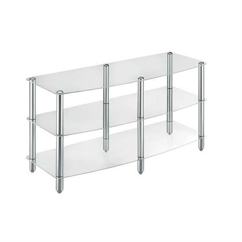 View a larger image of the Vantage Point 3-Shelf Clear Glass TV Stand VPVGG309-S.