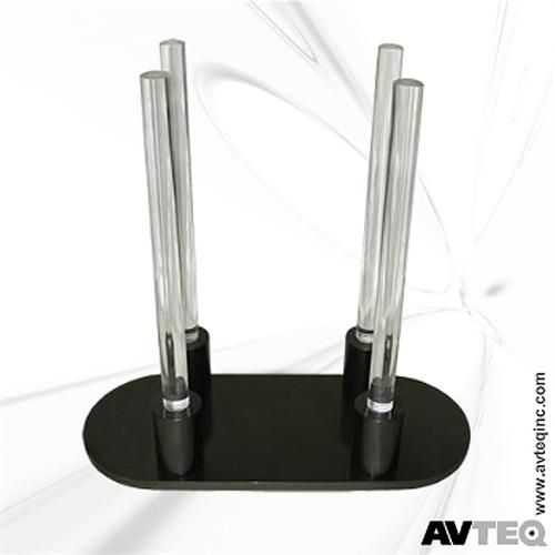 View a large image of the AVTEQ Add-On Acrylic Vertical Codec Mount Black VS-500 here.