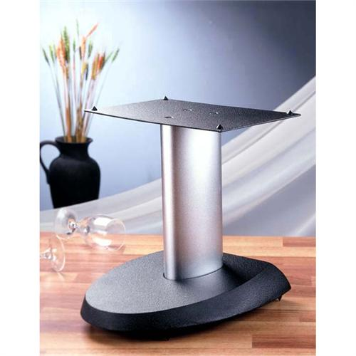 View a large image of the VTI VSP Series 13 inch Cast Iron Center Channel Speaker Stand Silver and Black VSPCSB here.