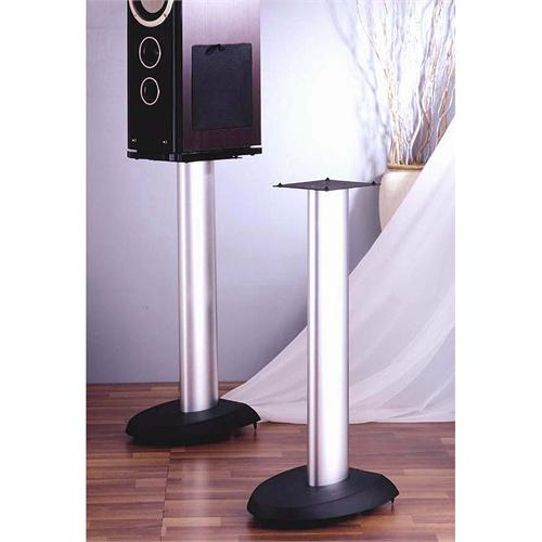 View a large image of the VTI VSP Series 29 inch Cast Iron Speaker Stands Silver and Black VSP29SB here.