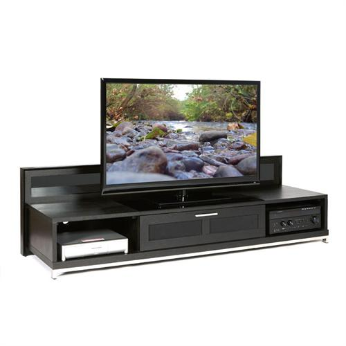 View a large image of the Plateau Backlit Modern TV Stand for 51-80 in. TVs Black VALENCIA 79 B here.