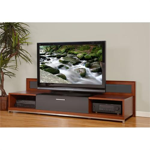 View a large image of the Plateau Backlit Modern TV Stand for 51-80 in. TVs Walnut VALENCIA 79 W here.