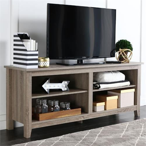 View a large image of the Walker Edison Urban Essentials 60 inch TV Stand Driftwood W58CSPAG here.