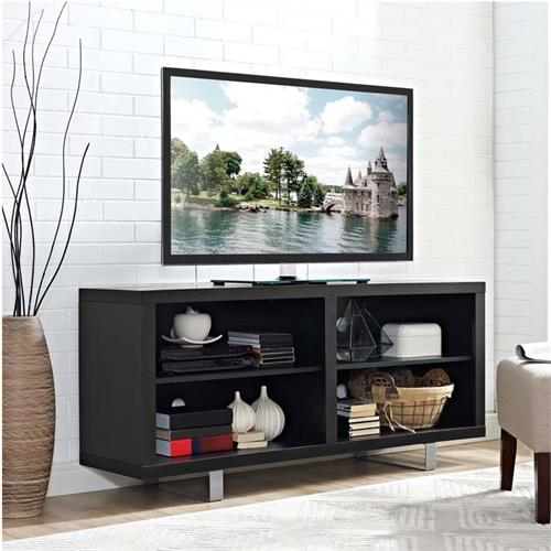 View a large image of the Walker Edison Simple Modern 58 inch TV Stand Black W58SMCSB here.
