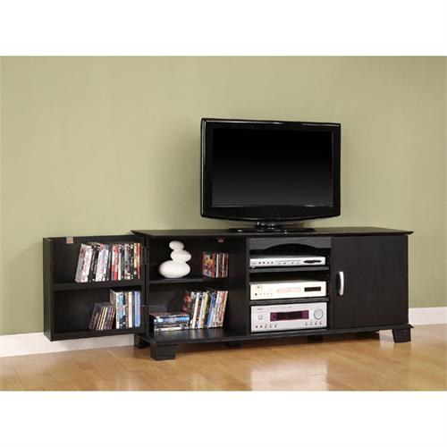 View a large image of the Walker Edison Jamestown 65 inch TV Cabinet Black W60C73BL here.