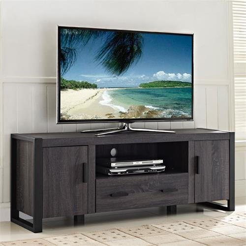 View a large image of the Walker Edison Urban Blend 65 inch TV Console Charcoal W60UBC22CL here.